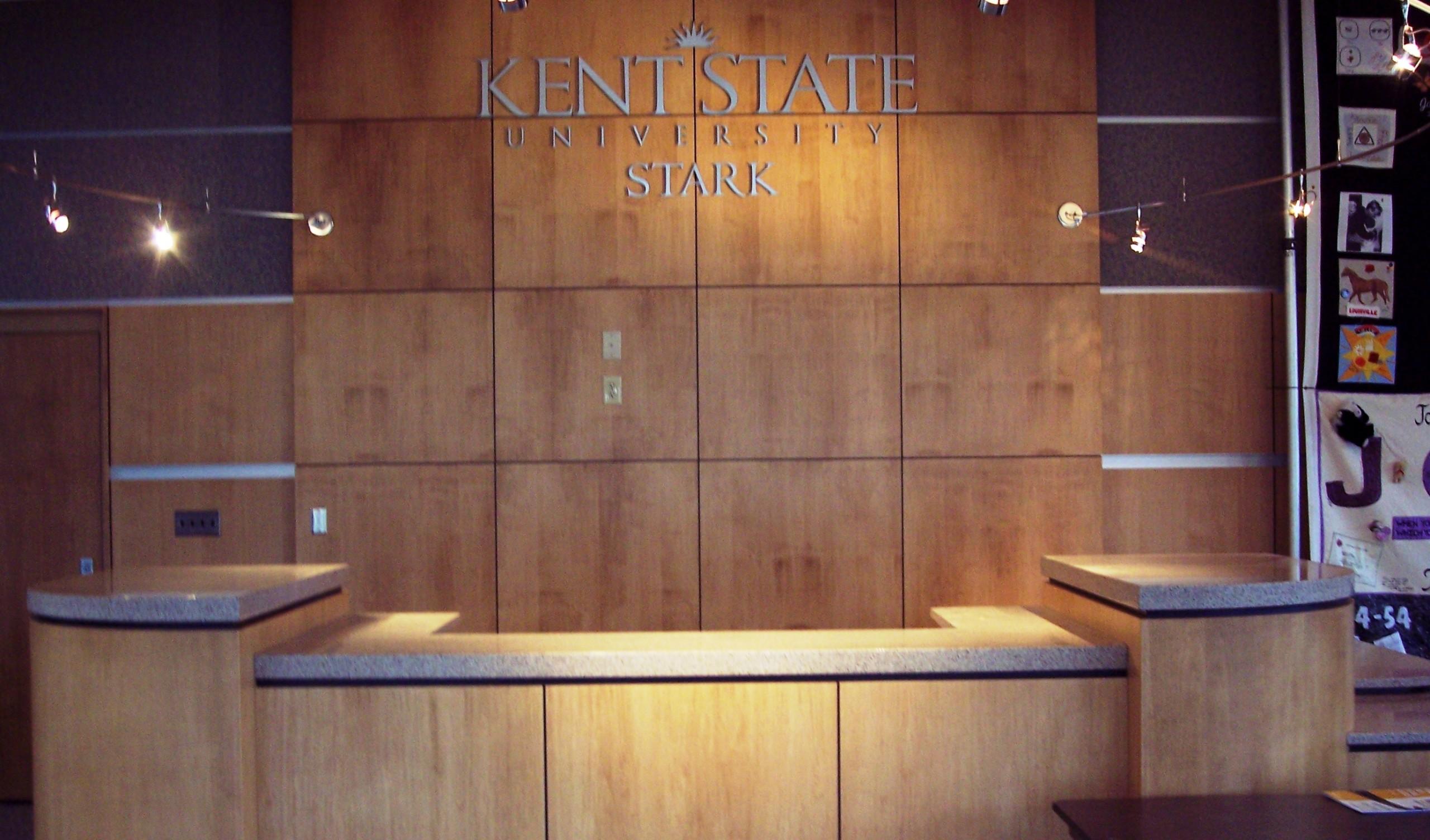 Kent State Stark custom desk