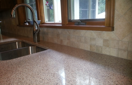 silestone quartz double round over edge